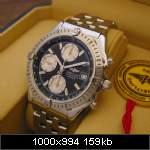 breitling1884 chrono No de serie A13363 010/500 bracelet en acier prix 70mill fcfa